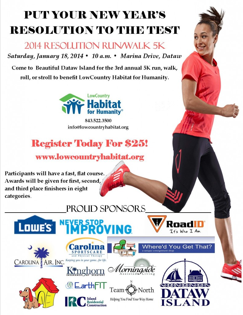 Resolution Run 2014 poster